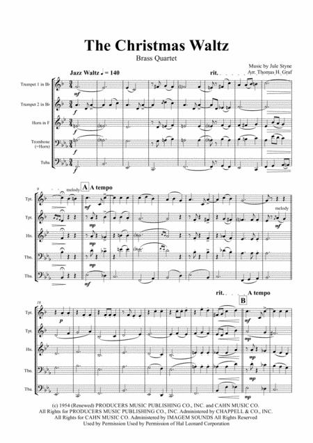 The Christmas Waltz - Frank Sinatra - Brass Quartet