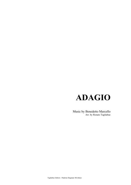 ADAGIO - Benedetto Marcello - For string quartet - with parts