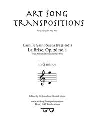 La Brise, Op. 26 no. 1 (G minor)