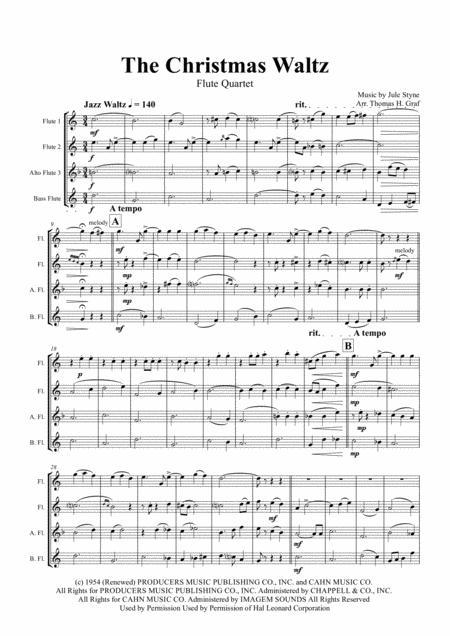 The Christmas Waltz - Frank Sinatra - Flute Quartet