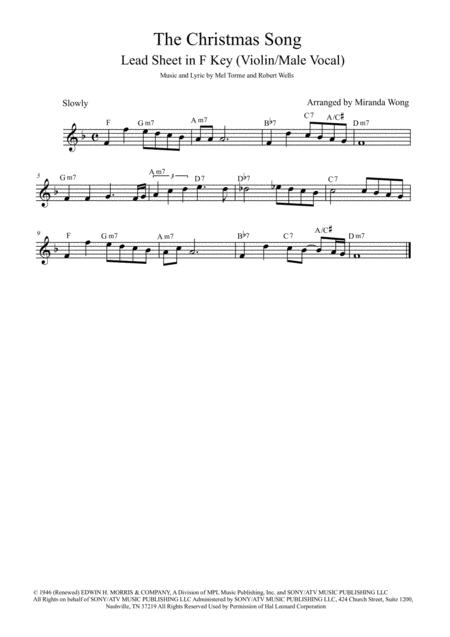 The Christmas Song (Chestnuts Roasting On An Open Fire) - Violin Solo (With Chords)