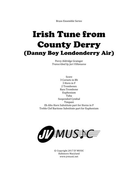 Irish Tune from County Derry (Danny Boy, Londonderry Air) for Brass Ensemble