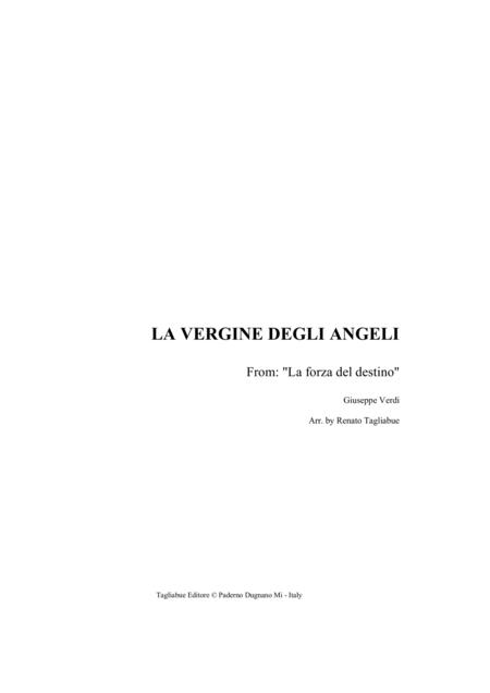 LA VERGINE DEGLI ANGELI - Arr. for Organ