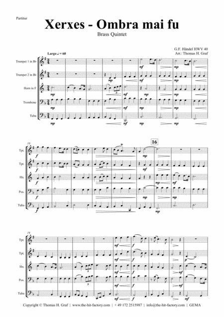 Xerxes Largo - Ombra mai fu - Brass Quintet