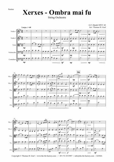 Xerxes Largo - Ombra mai fu - String Orchestra