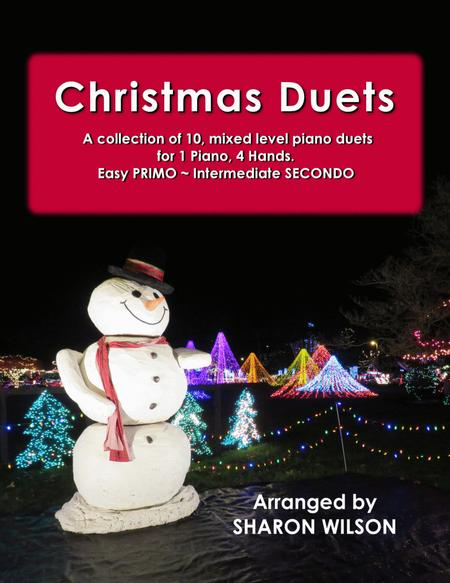 Christmas Duets (A Collection of 10 Easy Piano Duets for 1 Piano, 4 Hands)