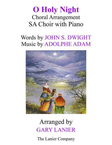 O HOLY NIGHT (SA Choir with Piano - Score & SA Choir Part included)