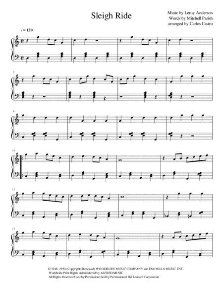 Sleigh Ride piano version