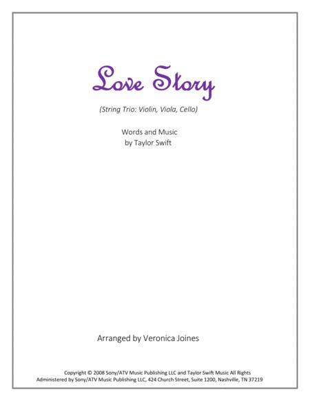 Love Story for String Trio (Violin, Viola, Cello)