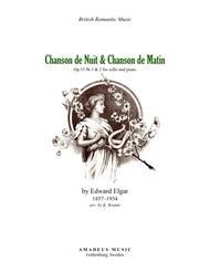 Chanson de Matin Op. 15 No. 2, for cello and piano