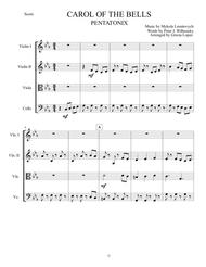 Carol Of The Bells - Pentatonix - Strings Quartet