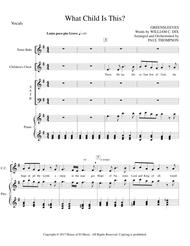 What Child is This - Solo with SATB
