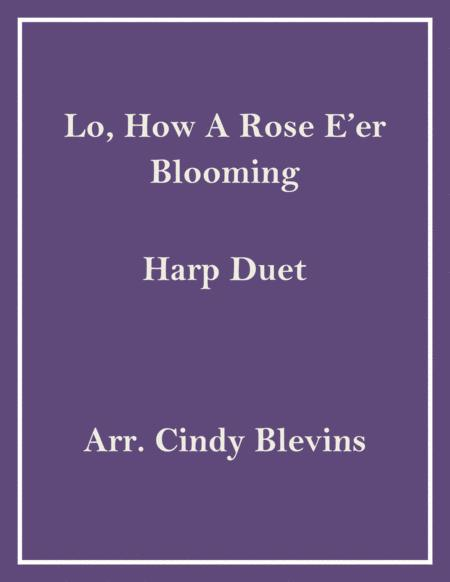 Lo, How a Rose E'er Blooming, arranged for Harp Duet