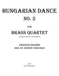 Hungarian Dance No. 5 for Brass Quartet