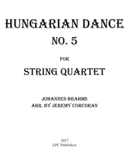 Hungarian Dance No. 5 for String Quartet