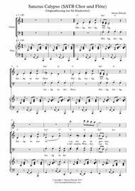 Sanctus Calypso for SATB choir, piano & flute in German