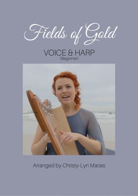 Fields Of Gold (Harp & Voice) Easy in C