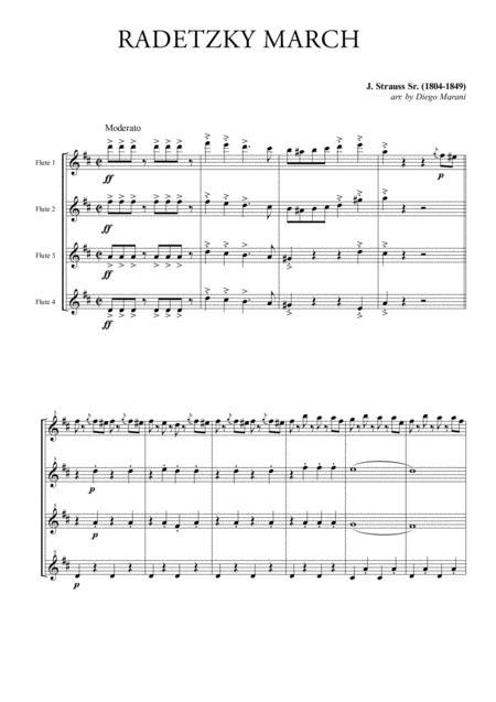 Radetzky March for Flute Quartet