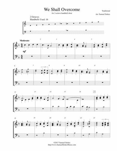 We Shall Overcome - for 2-octave handbell choir