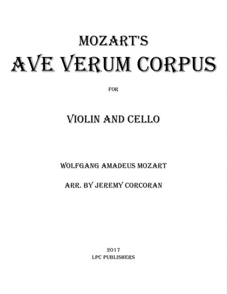 Ave Verum Corpus for Violin and Cello