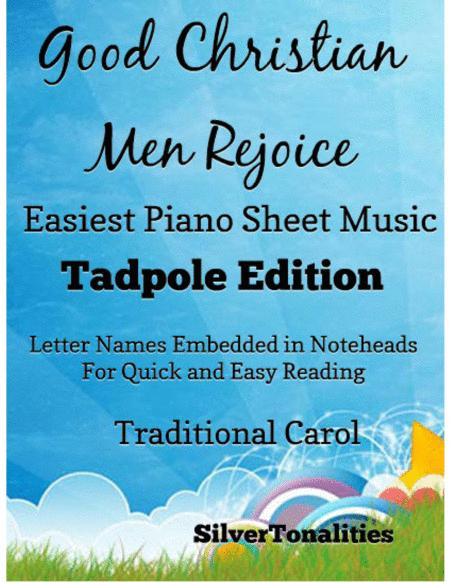 Good Christian Men Rejoice Easy Piano Sheet Music Tadpole Edition
