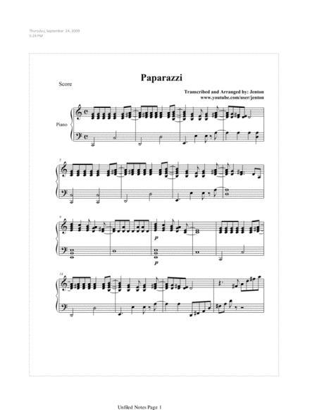 Paparazzi by Lady Gaga (Acoustic Piano)