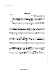 Download Paparazzi By Lady Gaga (Acoustic Piano) Sheet Music