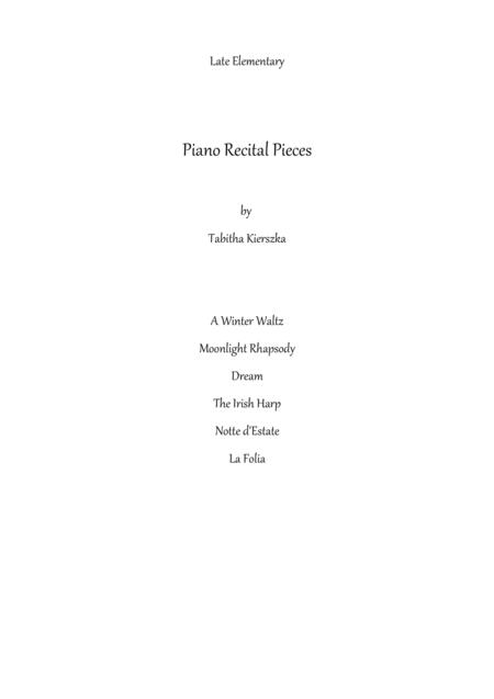 Six late elementary piano solos