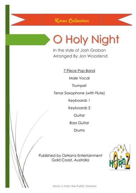 O Holy Night - Male Vocal, 2 Horns, 5 Rhythm.