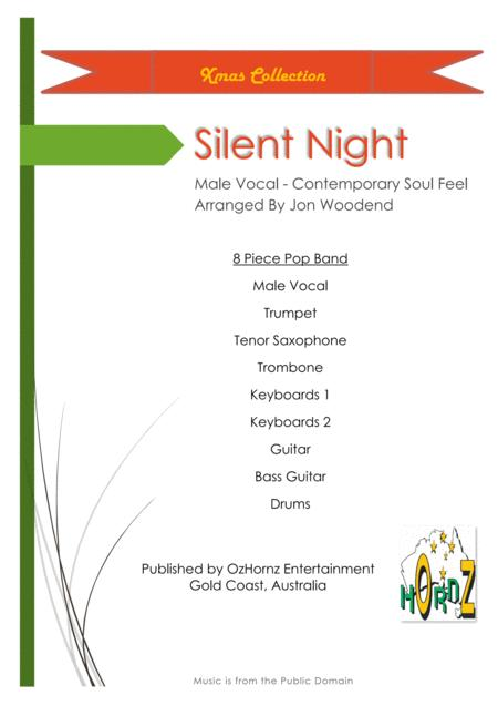 Silent Night - Male Vocal, 3 Horns, 5 Rhythm.