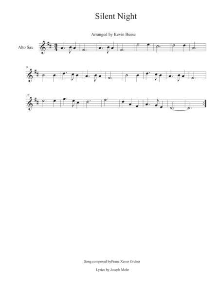 Silent Night - Alto Sax