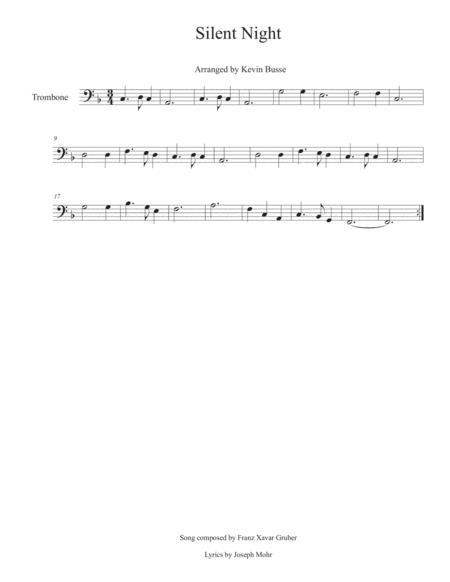 Silent Night - Trombone