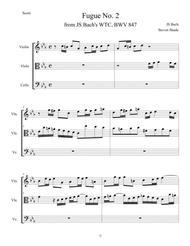 Bach - Fugue No. 2 in C minor, BWV 847