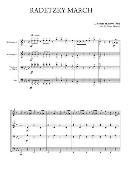 Radetzky March for Brass Quartet