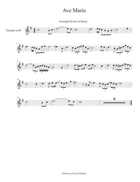 Ave Maria - Trumpet