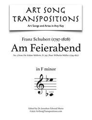 Am Feierabend, D. 795 (F minor)