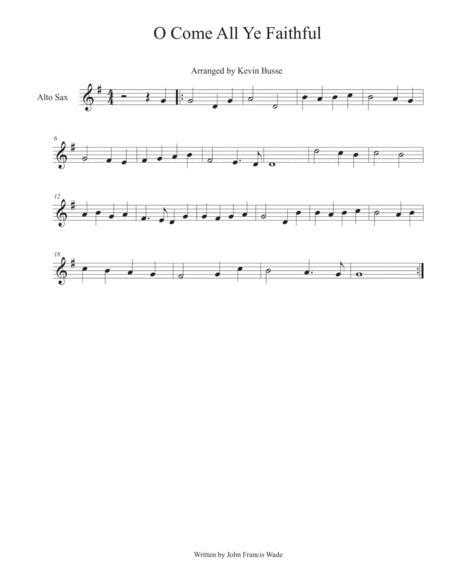 O Come All Ye Faithful - Alto Sax
