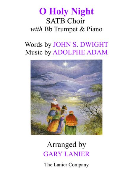 O HOLY NIGHT (SATB Choir with Bb Trumpet & Piano - Score & Parts included)