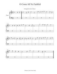 O Come All Ye Faithful - Piano