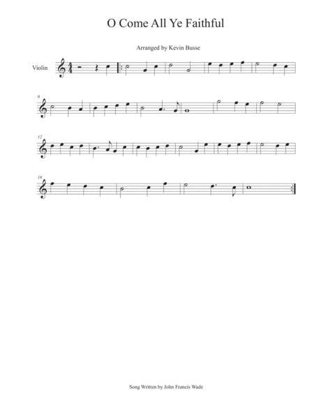O Come All Ye Faithful - Violin