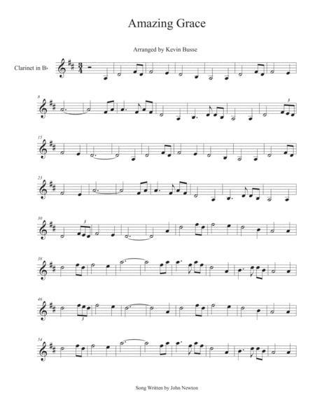 Amazing Grace - Clarinet
