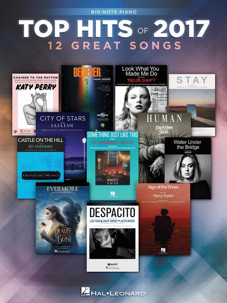 Top Hits of 2017 for Big-Note Piano