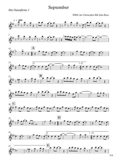September, Saxophone Quartet (AATB)