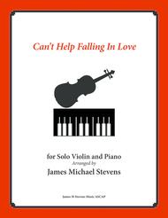 Can't Help Falling In Love - Violin & Piano