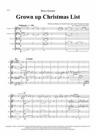 Download Grown Up Christmas List - Michael Buble Style - Brass Quintet Sheet Music By Barbra ...