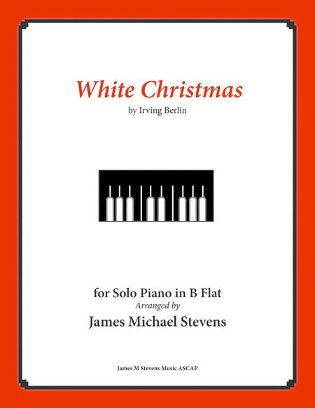 White Christmas - Piano Solo in B Flat