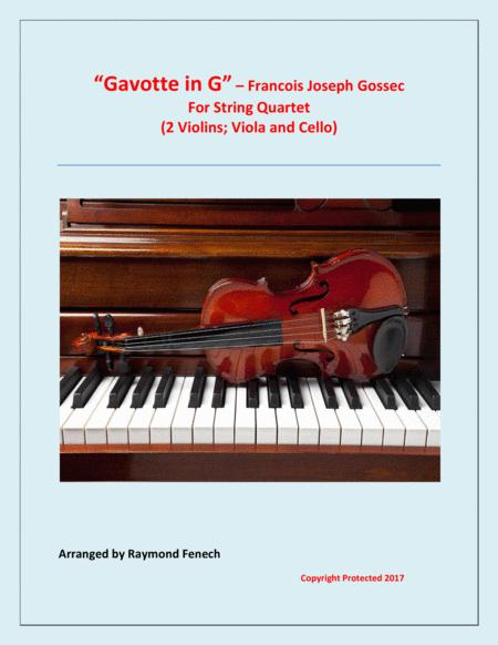 Gavotte in G - For String Quartet (2 Violins, Viola and Violoncello)