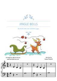 JINGLE BELLS BIG NOTES EASY VERSION