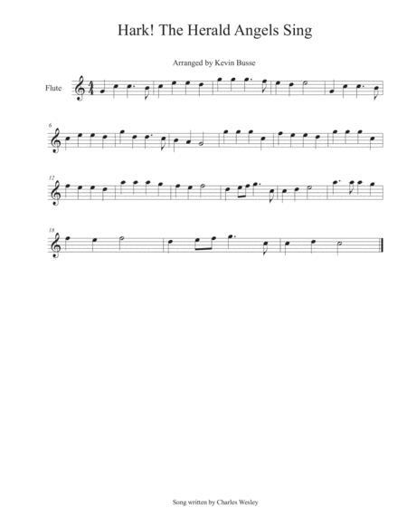 Hark! The Herald Angels Sing - Flute