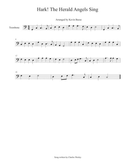 Hark! The Herald Angels Sing - Trombone